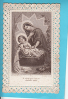 """Image Religieuse Dentelle Canivet """"Pieuses Pensées..."""" - Devotion Images"""