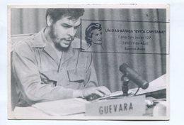 "ERNESTO CHE GUEVARA. ARGENTINA TARJETA CIRCULADO 2003 OBLITERACION DE UNIDAD BASICA ""EVITA CAPITANA"" -LILHU - Celebridades"
