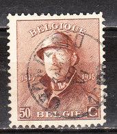 174  Roi Albert Casqué - Bonne Valeur - Oblit. Centrale CRONFESTU - LOOK!!!! - 1919-1920 Trench Helmet