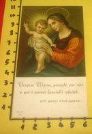 MADONNA Con BAMBINO Opera Santa Infanzia SANTINO SLE Santa Lega Eucaristica Serie M - Devotion Images