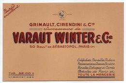 - BUVARD GRIMAULT, CIRENDINI - Successeurs De VARAUT WINTER - TOUTE LA MERCERIE - PARIS - - Textile & Vestimentaire