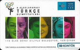 Turkey - TT (chip) - C-214 - 6th Turkish Olympics, 2008, 200.000ex, 50U, Used - Turkey