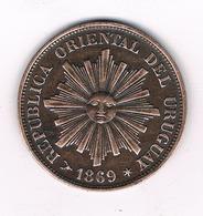1 CENTESIMO  1869 URUGUAY /5370/ - Uruguay