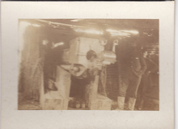 Photo Avril 1915 RANZIERES  (près Dieue-sur-Meuse) - Abri D'un Canon De Marine De 140 (A198, Ww1, Wk 1) - War 1914-18