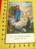 N. S. Di MONTALLEGRO (Rapallo) SANTINO Preghiera - Devotion Images