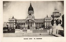 BUENOS AIRES-EL CONGRESO-NON VIAGGIATA-REAL PHOTO - Argentina