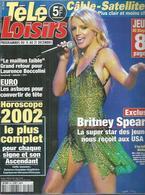 """TELE LOISIRS  N° 824  """" BRITNEY SPEARS  """" -   DECEMBRE  2001 - Fernsehen"""