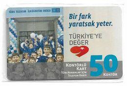 Turkey - TT (chip) - C-260 - Bir Fark Yaratsak Yeter #1, 2010, 50U, 3.000ex, NSB - Turkey