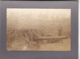Photo Avril 1915 RANZIERES  (près Dieue-sur-Meuse) - Canon Et Tourelle D'un 140 De Marine En Position (A198, Ww1, Wk 1) - War 1914-18