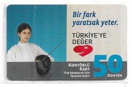 Turkey - TT (chip) - C-267 - Bir Fark Yaratsak Yeter #6, 2010, 50U, 3.000ex, NSB - Turkey