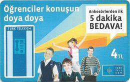 Turkey - TT (chip) - C-295 - Öğrenciler Konuşun Doya Doya, 2013, 4₤, 50.000ex, Used - Turkey