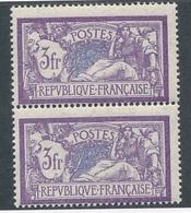 CZ-63: FRANCE:lot Avec  N°206** (paire) - 1900-27 Merson