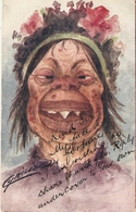 """Cynicus.Comic Woman"" Humorous Antique English Postcard - Humor"