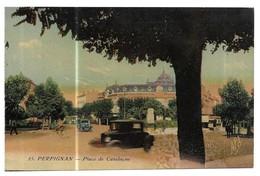 Perpignan Place De Catalogne Carte Colorisée - Perpignan