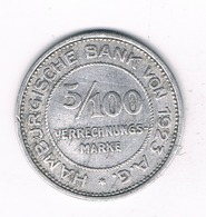 5/100 MARK  1923 HAMBURG /5378/ - [ 3] 1918-1933 : Weimar Republic