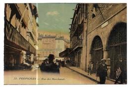 Perpignan Rue Des Marchands Carte Colorisée - Perpignan