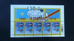 COB F 4047** Neuf - 2010 - Le Congo, 50ans D'indépendance 1960-2010 - Feuillet De 5 Timbres - Feuillets