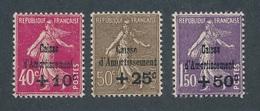CZ-67: FRANCE:lot Avec  N°266/268* - Francia