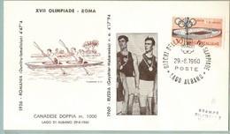 FDC FILAGRANO OLIMPIADI ROMA 1960 I VINCITORI:CANADESE DOPPIA M.1000  RUSSIA. - Italia
