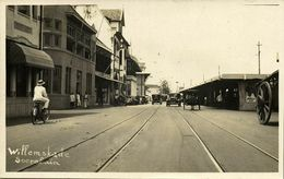 Indonesia, JAVA SOERABAIA, Willemskade, Bike Cars (1920s) RPPC Postcard - Indonesië