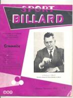 """Revue """" Sport Billard"""" N° 3 De Octobre 1959 (jm) - Sport"""