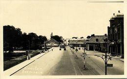 Indonesia, JAVA SOERABAIA, Stadstuin, Pakketpost, Tram (1920s) RPPC Postcard - Indonesië