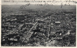 PORTO-VISTA TIRADA DE AVIAO-VIAGGIATA 1933-VERA FOTO - Porto