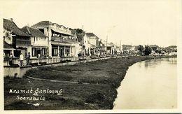 Indonesia, JAVA SOERABAIA, Kramat Gantoeng, Tram Street Car 1920s RPPC Postcard - Indonesië