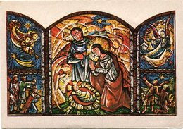 """GLORIA IN EXCELSIS DEO"" (TRIPTICO) I. SCHRICKER, PINTOR SIN MANOS. TARJETA DE NAVIDAD CHRISTMAS CARD CIRCA 1965 - LILHU - Navidad"