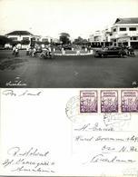 Indonesia, JAVA SOERABAIA, Maxim Theatre, Cars, Rickshaw (1967) RPPC Postcard - Indonesië
