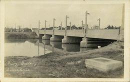Indonesia, JAVA SOERABAIA, Goebeng Gubeng Bridge (1920s) RPPC Postcard - Indonesië