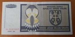 CROATIA Knin 1.000.000 Dinara 1993 XF Pick R10 - Croacia