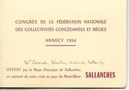 Haute Savoie, Sallanches, Congres, Regie Electrique De Sallanches, Carnet De 12 Photos    (bon Etat)   Dim: 9 X 7.5. - Luoghi