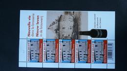COB F4062** Neuf -2010 - Nouvelle Vie Dans La Brasserie – Marche En Famenne  - Feuillet De 5 Timbres - Feuillets