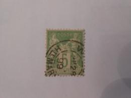 FRANCE YT102 TYPE SAGE 5c. Vert-jaune TYPE I Cachet Rond - 1898-1900 Sage (Type III)