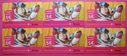 Montenegro Lot Of 6 Different Prepaid Phone CARDS Used Operator TMOBILE *Girl* - Montenegro