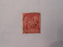 FRANCE YT104 TYPE SAGE 50c. Rose TYPE I Cachet Rond - 1898-1900 Sage (Type III)
