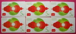 Montenegro Lot Of 6 Different Prepaid Phone CARDS Used Operator M:TEL - Montenegro