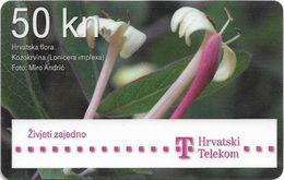 Croatia - Hrvatski Telekom - Hrvatska Flora - Lonicera Implexa Flower - Exp. 12.2013, Used - Croatia
