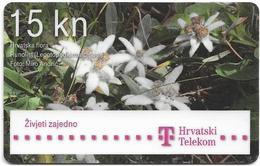Croatia - Hrvatski Telekom - Hrvatska Flora - Runolist Flower - Exp. 12.2013, Used - Croatia