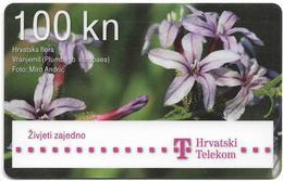 Croatia - Hrvatski Telekom - Hrvatska Flora - Vranjemil Plumbago Flower - Exp. 12.2013, Used - Croatia