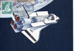 46389 Germany, Maximum 1982  Space Shuttle Spacelab - Storia Postale
