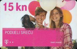 Croatia - Hrvatski Telekom - Prijatelji - Podijeli Sreću - Chip GD10, Exp. 12.2016, Used - Croatia