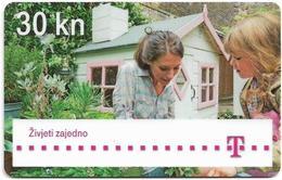 Croatia - Hrvatski Telekom - Woman And Girl In Garden - Exp. 12.2014, Used - Croatia