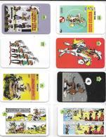 8-CARTES PREPAYEES-GB-Série LUCKY LUKE-2/5/10£-Env 1995-500 Ex-NEUVE-LUXE-Tres RARE - BD