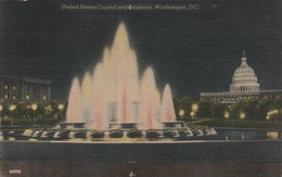 : Washington D.c. : WASHINGTON : United States Capitoland Fountain ( C.p.s.m. - Photo Vérit. ) - Toilée - - Washington DC