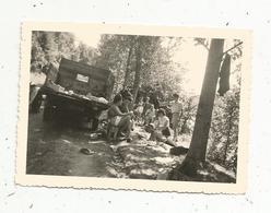 Photographie , Automobile , Camion ,  Pique Nique ,  90 X 65 Mm - Cars