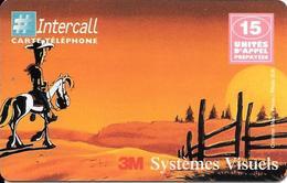 CARTE-PREPAYEE-15U-INTERCALL-3M SYSTEMES VISUELS-LUCKY LUKE-Exp03/99- NON GRATTE E- T BE-LUXE - France