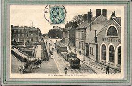 CPA - VIERZON (18) - Arrivée Du Train à Vapeur Devant L'usine Merlin De Machines Agricoles En 1907 - Vierzon