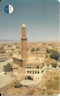 CARTE-PUCE-MAGNETIQUE-AUTELCA CARD-YEMEN-1996-MINARET-TBE-RARE - Yémen